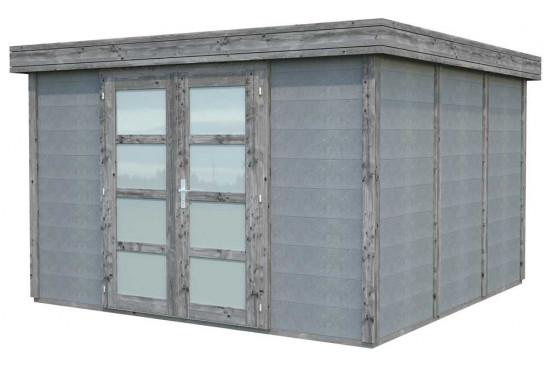 abri de jardin moderne Noah bois-béton - 9.83m² intérieur