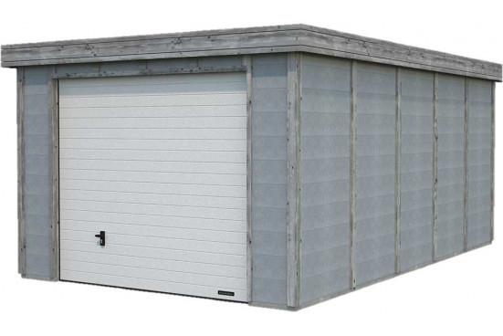 Garage toit plat ELYA bois-béton - 19.66m² intérieur