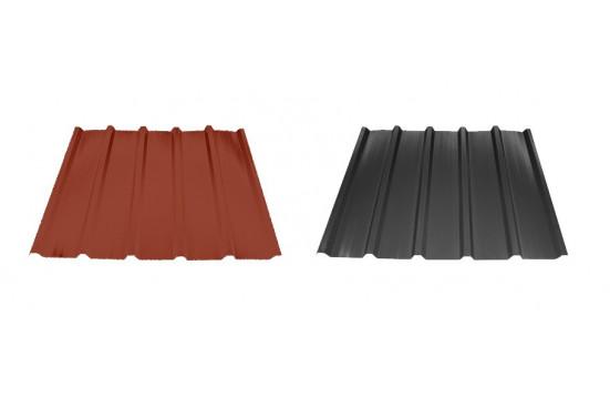 KIT Bac acier plat rouge ou gris anthracite pour abri Evian