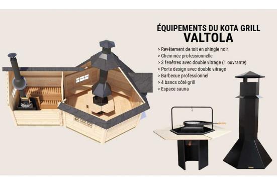 KOTA GRILL moderne VALTOLA madriers 44 mm - 9 + 4 m²