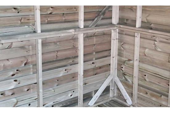 Abri de jardin en bois autoclave Vintage 225 toit plat panneaux 16mm