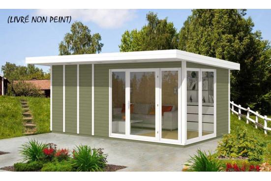 Bureau de jardin AIRI 13 menuiseries PVC - 12.30 m² intérieur