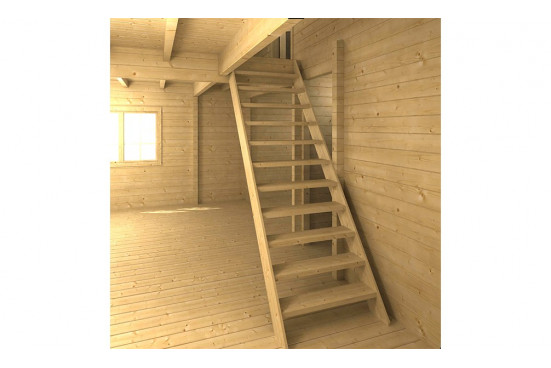 Chalet Mezzanine Bruges 20 2P madriers 44mm - 20 + 20m² intérieur