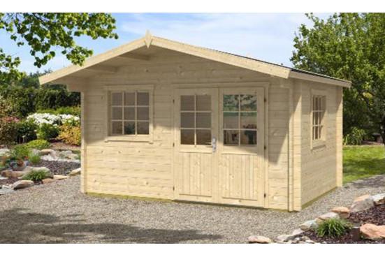 Abri de jardin CAVALAIRE 44 mm sans plancher -10m² intérieur