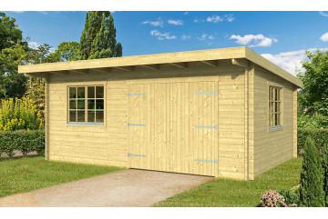 Garage atelier Leucate 44mm - 22.15 m² intérieur
