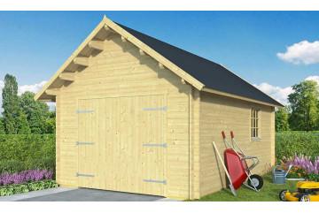 Garage Pau madriers 44mm - 18,12m² intérieur