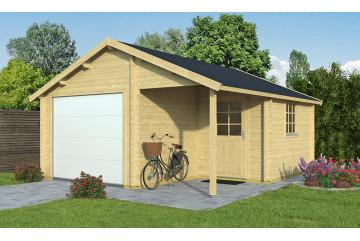 Garage NEVIS porte sectionnelle 44mm - 21.93 m² intérieur