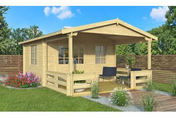 Abri de jardin BLOIS 44 mm - 12,3m² intérieur + 8,6m²