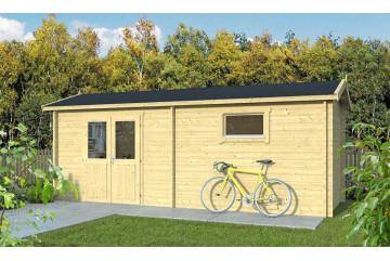 Abri de jardin AQUITAINE 44 mm sans plancher - 13.30 m² intérieur