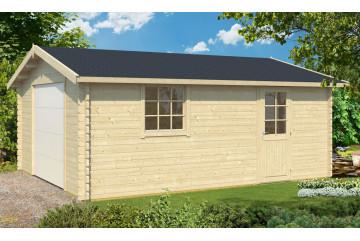 Garage GRENOBLE porte sectionnelle 70mm contrecollés - 23,8m² intérieur