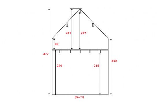 Chalet mezzanine Narbonne 25 - madriers 70mm contre-collés - 25 + 25m² intérieur