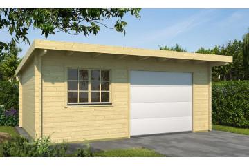 Garage Atelier Leucate A 44mm Porte Sectionnelle - 22.15m² intérieur