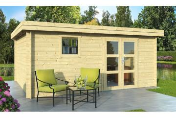 Abri de jardin extérieur LYON 18 28 mm - 17.59 m² intérieur