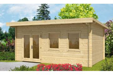 Abri de jardin en bois BORDEAUX 70 mm Contrecollés