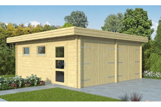 Garage bois double MARTIGUES 44mm - 30.60m² intérieur