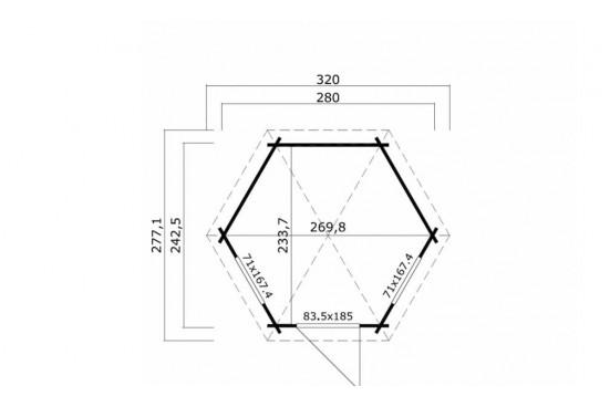 Pavillon Inverness 44 mm - 4.73m² intérieur