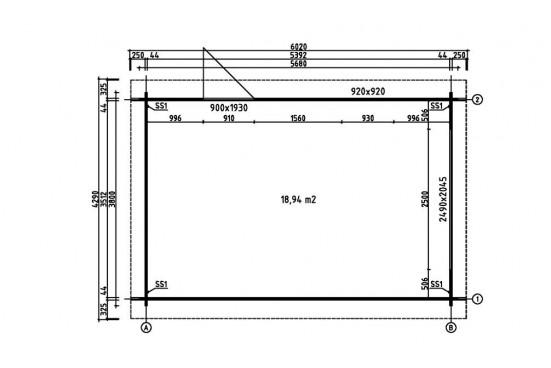 Garage CHAMBERY 44mm - 18,9m² intérieur