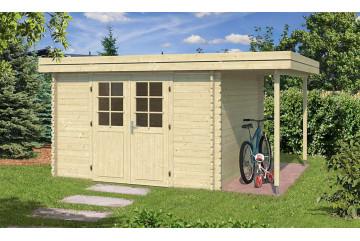 Abri de jardin en bois Brioude 34mm - 8.60 m² intérieur - toit plat
