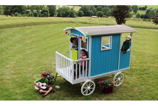 Cabane en bois mobile pour enfant Carry - 1,28m² intérieur
