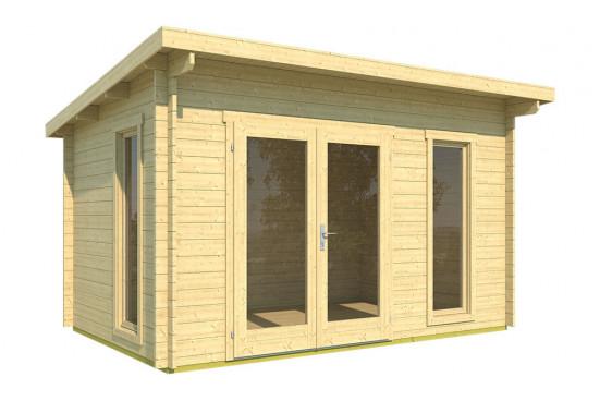Abri de jardin DOLE 35mm - 9,31m² intérieur