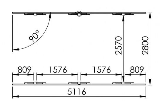 Carport toit plat Louison