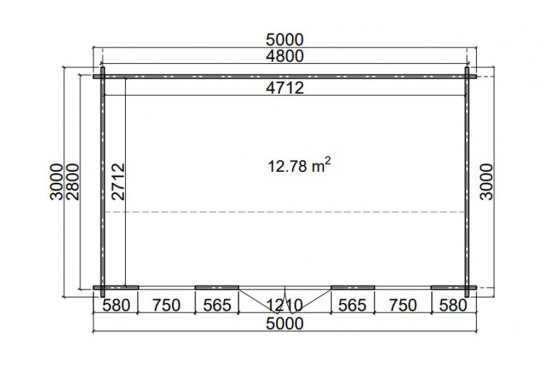 Abri de jardin MISSISSIPPI 1- 44 mm - 12.78m² intérieur