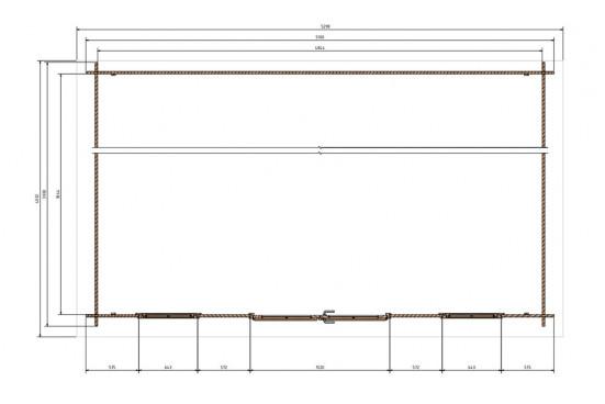 Abri de jardin ZONZA 28 mm - 17.65m² intérieur