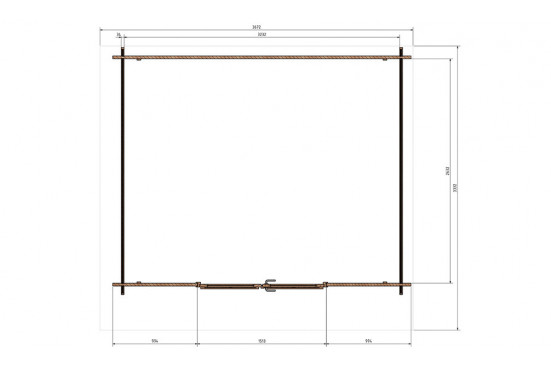 Abri de jardin Propriano 34mm - 8,51m² intérieur
