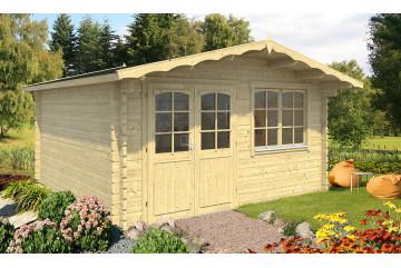 cabanes jardin bois BAYONNE 44 mm - 15,3m² intérieur