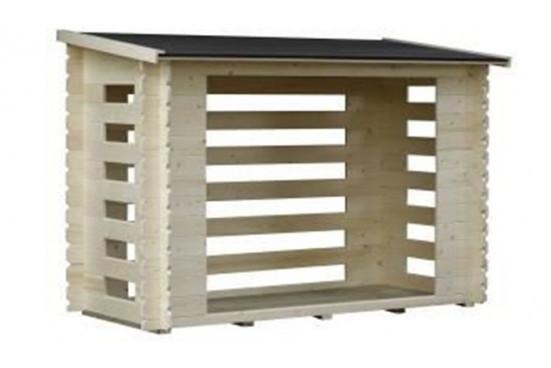 Petit abri Bûcher bois 28mm - 2,72m² intérieur