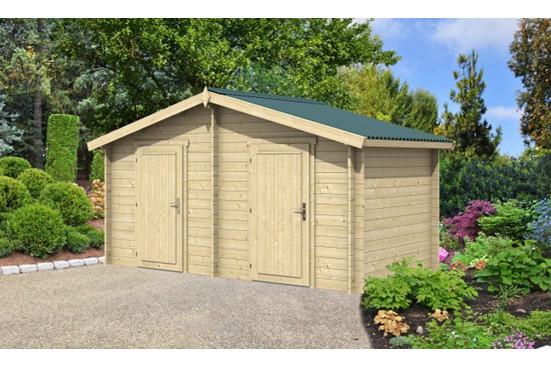 chalets en bois pas cher OUVRIER 2 34 mm-8m² intérieur - double pente - Excellent rapport qualité / prix