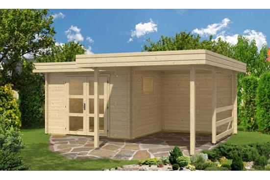 Pool house toit plat TOULON 44mm - 7,5m² intérieur + 11,2m²