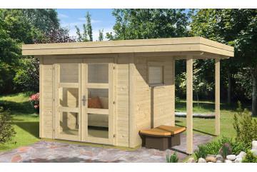 Abri de jardin ANNECY 2 28mm - 5,2m² intérieur + 2,7m²