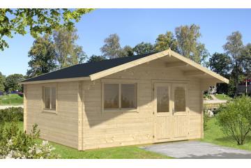 Abri de jardin FONTAINEBLEAU 2 - 44 mm - 26,8m² intérieur