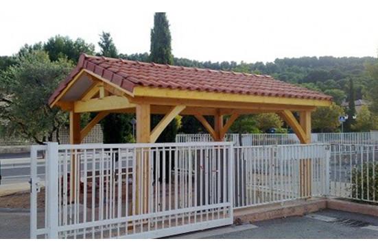 garage carport bois Quiberon symétrique
