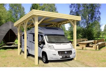 Carport toit plat camping car - 23,4m² couvert