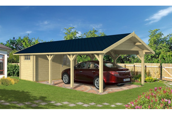 Carport voiture Trouville symétrique - 39,25 m² couvert