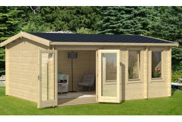 abri de jardin en bois PALERME 44 - 44mm - 19,2m² intérieur